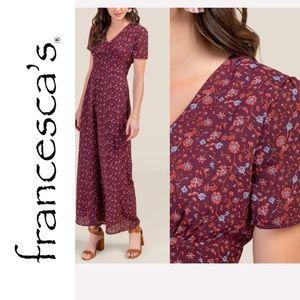 Francesca's Adeline Floral Maxi Jumpsuit